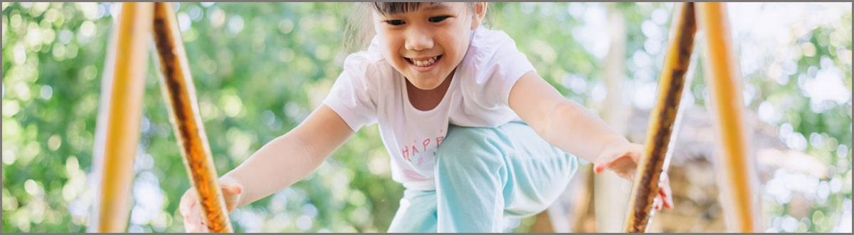 Child playing on playground
